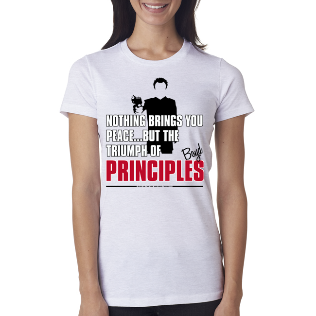 "Boyd Crowder ""Principles"" Ladies Tee"