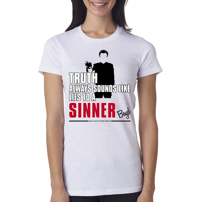 "Boyd Crowder ""Sinner"" Ladies Tee"