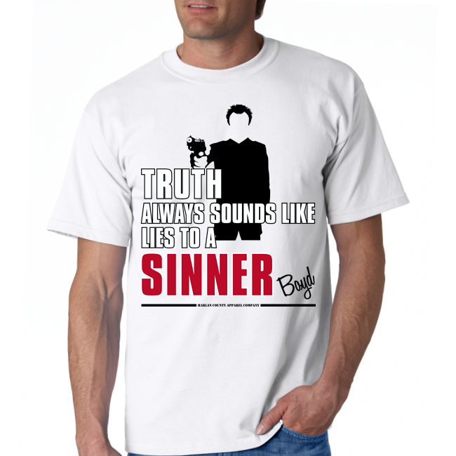 "Boyd Crowder ""Sinner"" Unisex Tee"