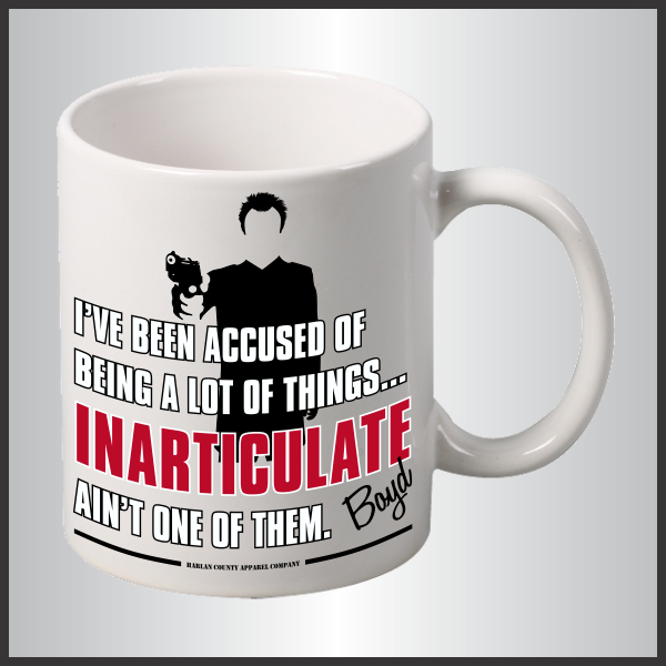 "Boyd Crowder ""Inarticulate"" Mug"