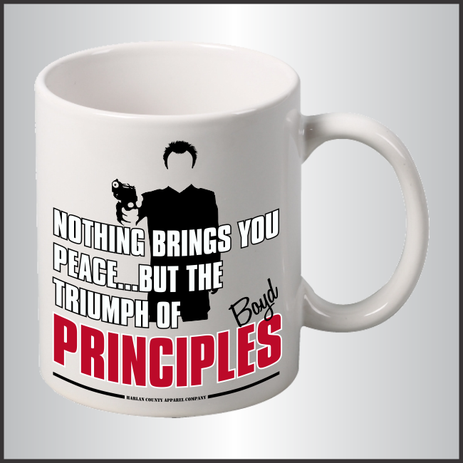 "Boyd Crowder ""Principles"" Mug"