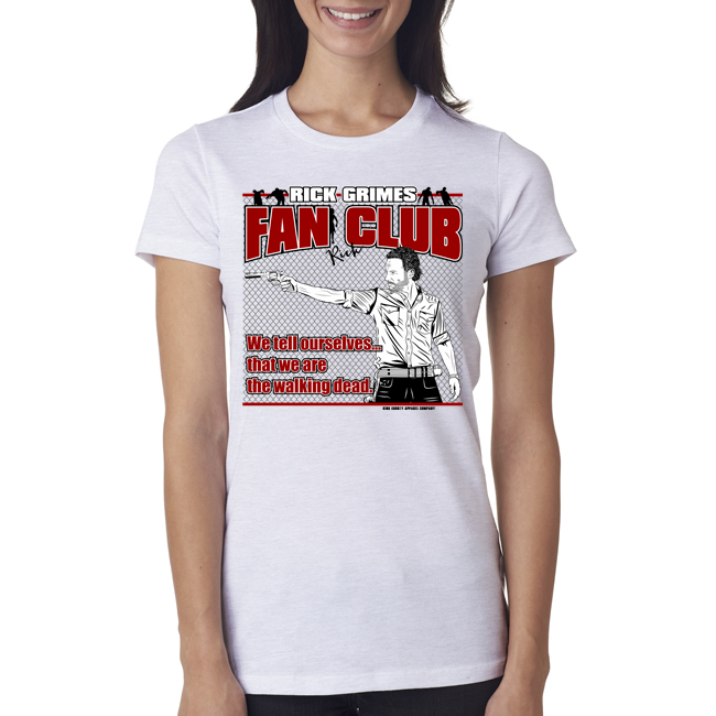 "Rick Grimes ""Fan Club"" Ladies Tee"