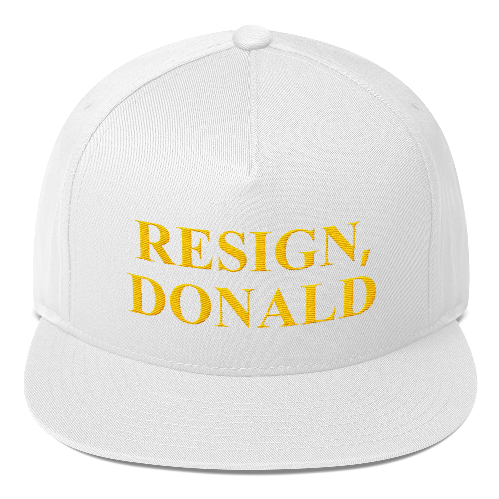 """RESIGN, DONALD"" EMBROIDERED HATS"