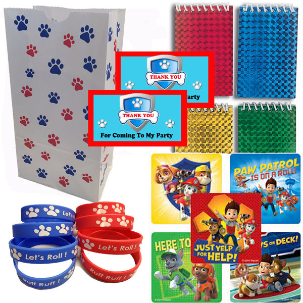 Paw Patrol Party Favor Set - 12 Guests