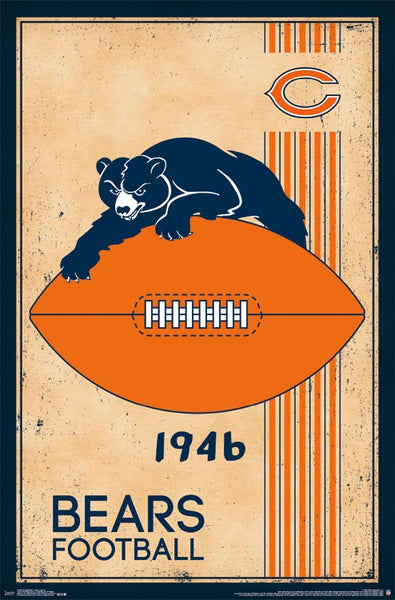 Chicago Bears Retro Logo Poster
