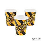 construction caution cups