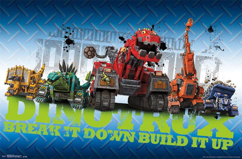 dinotrux wall poster