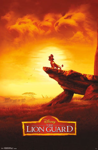 Lion guard poster - Kion pride rock
