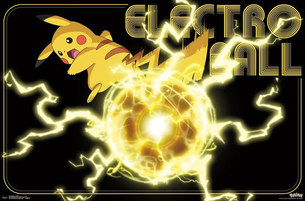 Pokemon Electro Ball Pikachu Poster