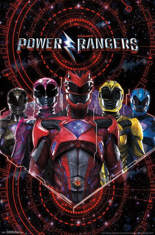 Power Rangers Group Wall Poster