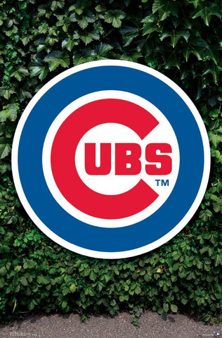 Chicago Cubs Ivy Logo Wall Poster