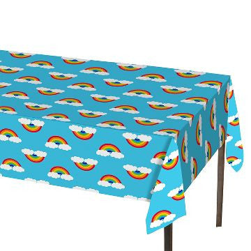 Rainbow Clouds Plastic Table Cover