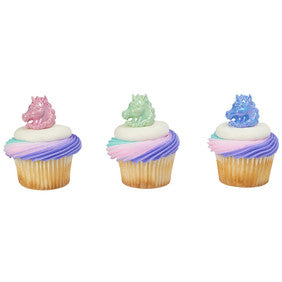 Unicorn Cupcake Rings - 24