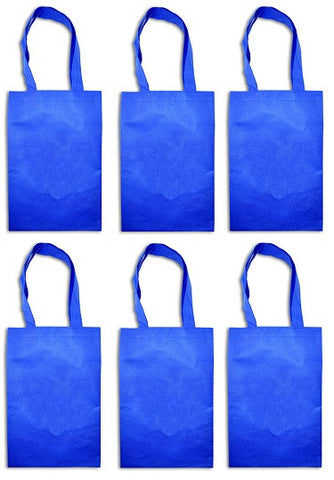 Blue woven party bags