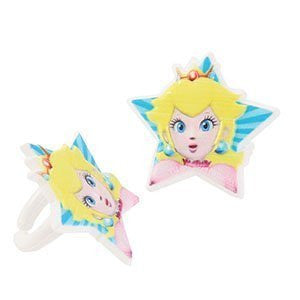 Princess peach cupcake rings mario brothers
