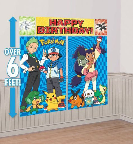 Party Banner Wall Scene Setter -  Ash Pokemon
