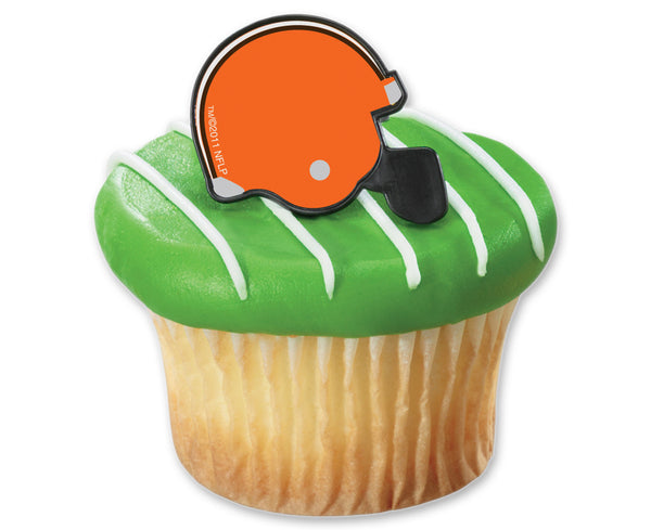 cleveland browns nfl football helmet cupcake rings