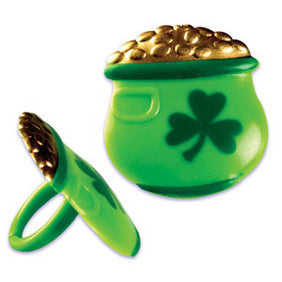 St Patricks Day Pot of God Cupcake Rings