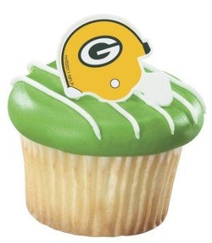 Greenbay packers nfl helmet football cupcake rings
