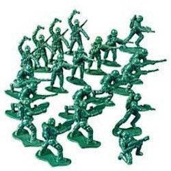 100 Army Men Soldiers- Mini Plastic Party Favors