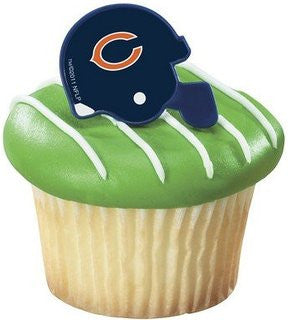 chicago bears football helmet cupcake rings