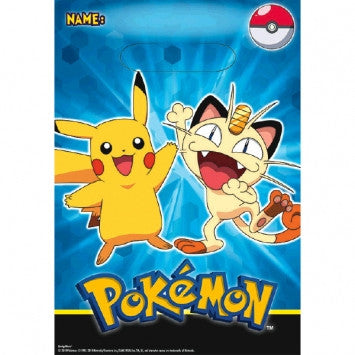 Pokemon Pikachu party favor bags