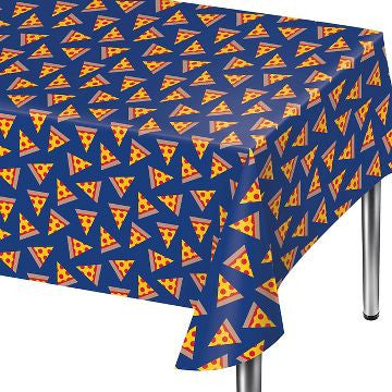 Pizza Party Plastic Table Cover