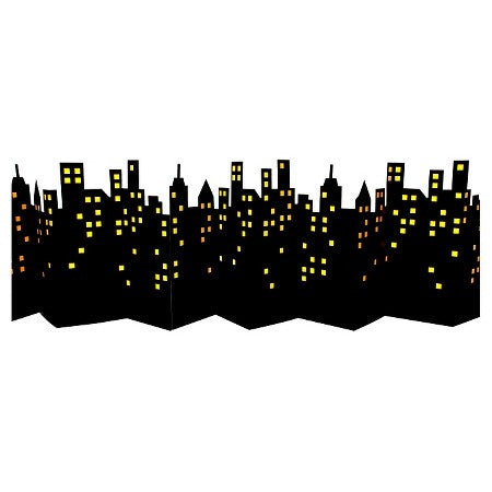 super hero skyline photo backdrop
