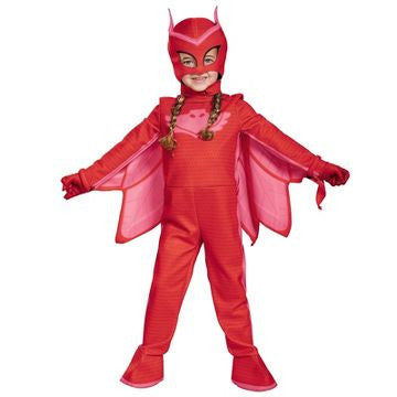 PJ Masks Girls' Owlette Deluxe Toddler Costume