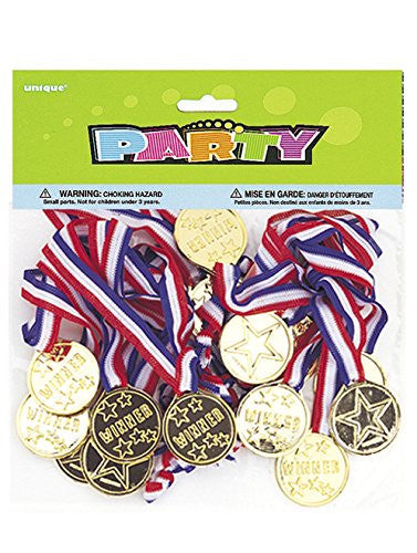 Gold Medal Party Game Prizes - 24 ct.