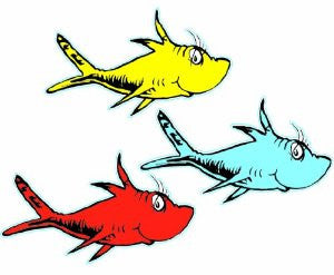 Seuss fish cut outs