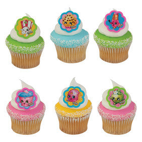 Shopkins Cupcake Rings - 24