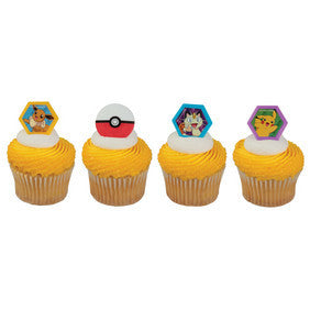 pokeball pokemon pikachu cupcake rings
