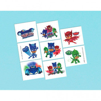 8 PJ Masks Temporary Tattoos