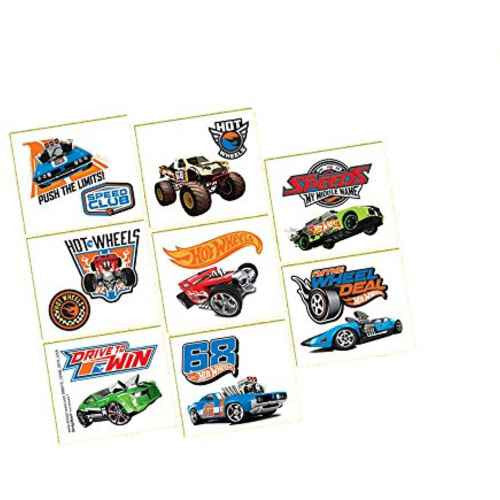 Hot Wheels Wild Racer Party Tattoos