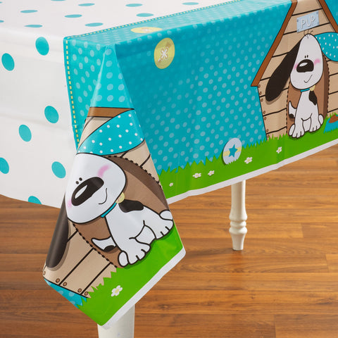 1 Playful Puppy Table Cover