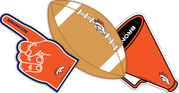 Denver Broncos Paper Cut Outs