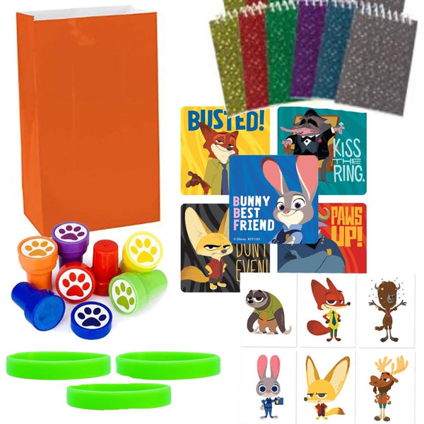zootopia party bag favor sets