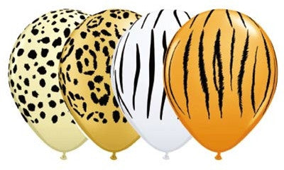 Safari animal print latex party balloons