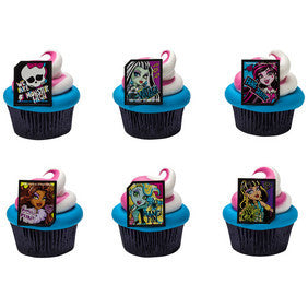 Cupcake Favor Rings - NEW Monster High (24)