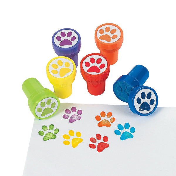 Paw print party favor stampers