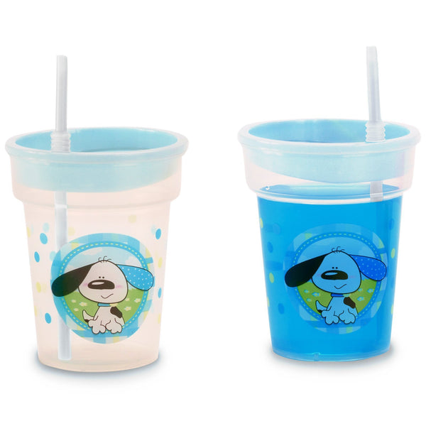 1 Playful Puppy Blue Tumbler - 8 oz.