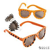 Safari Glasses Zebra Tiger Lion Kid
