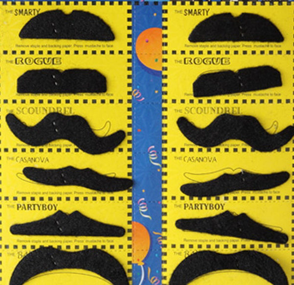costume adhesive party mustache set