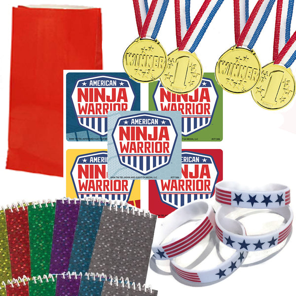 American Ninja Warrior Party Favor set
