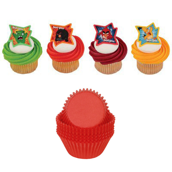Angry Birds - Why So Angry? Cupcake Rings & Red Cups - 24