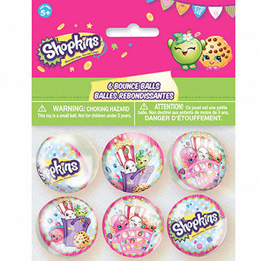6 Shopkins Party Favor Bounce Balls