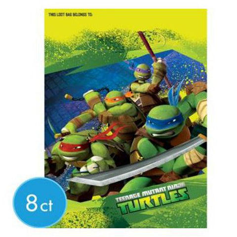 Ninja Turtles Party Favor Bags - 8 ct