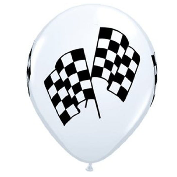 racing checkered flag latex balloon