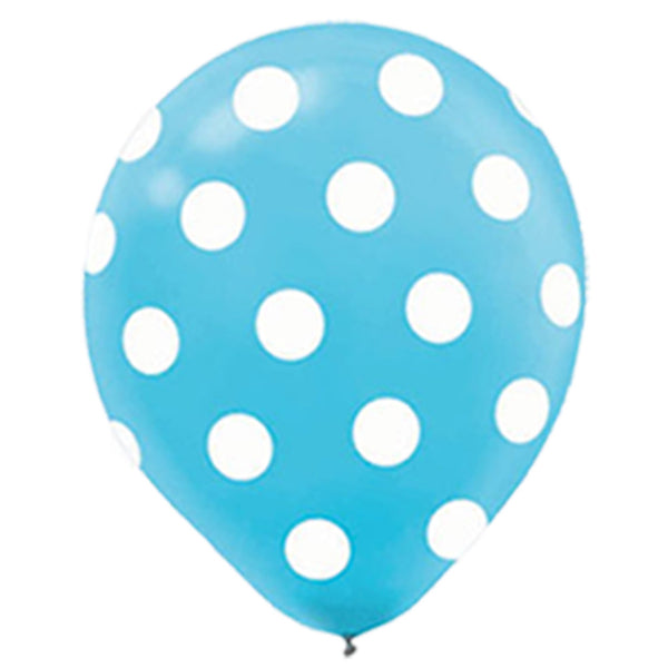 Blue Polka Dot Balloon